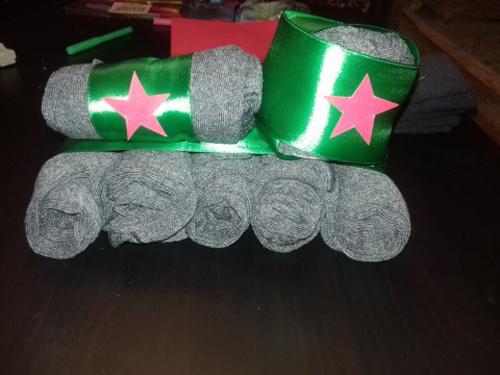101 танк из носков на 23 февраля